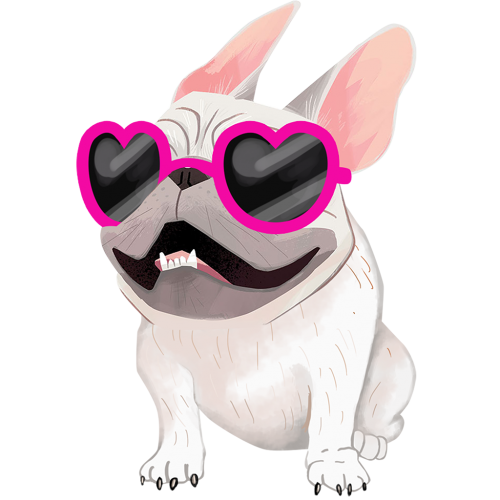 French Bulldog Cream Sticker Car Decal