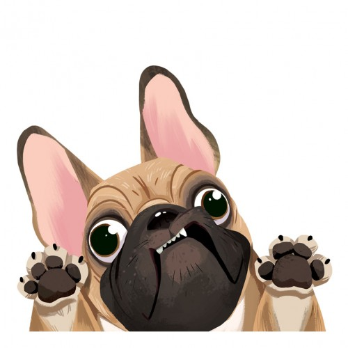 Fawn French Bulldog Sticker Decal