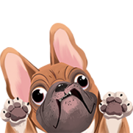 French Bulldog Mini Decal