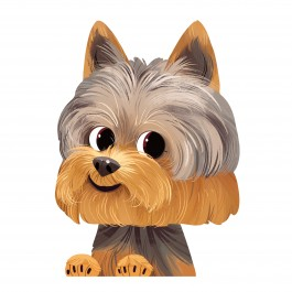 Yorkshire Terrier Car Sticker Decal