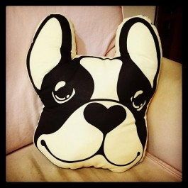 FRENCHIE French Bulldog Big Head Figure Cushion an Interior Chic Decoration for living room