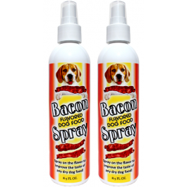 Bacon Spray for dry dog food 2 bottle deal