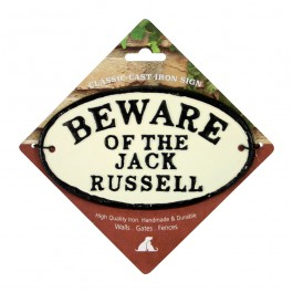Beware Of The Jack Russell Cast Iron Oval Sign