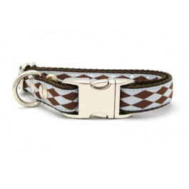 Canelia Cirque Dog Collar Blue/Brown