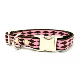 Canelia Cirque Dog Collar Pink/Brown