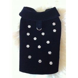 Daisy Velvet Winter Dog Coat by Vienna Couture Canine