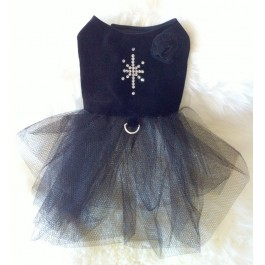 Black Velvet Dog Dress by Vienna Couture Canine
