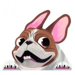 Pied French Bulldog Sticker Decal