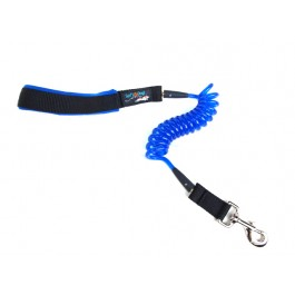 Jumbo Coil Dog Leash - Blue