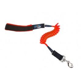 Jumbo Coil Dog Leash - Red