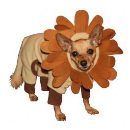 Lion Hoodie Dog Costume