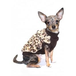 Brown Cheetah Mink Dog Vest