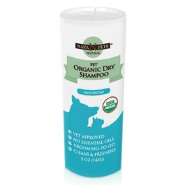 Nava Pets Dry Pet Conditioning Shampoo - USDA Organic Unscented  5OZ