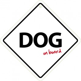 Dog On Board Plastic Sign