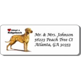 Adopt A Ridgeback Address Labels