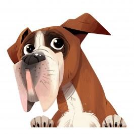 Boxer Dog Sticker Decal
