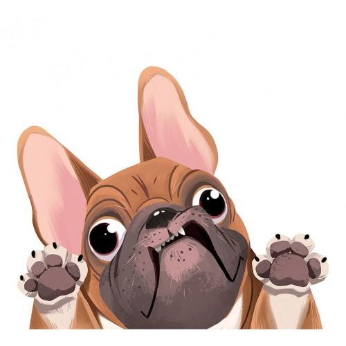 French Bulldog Sticker Decal