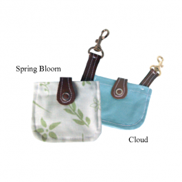 Walk-time dog poop bag holder