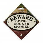 Beware Of The Cocker Spaniel Cast Iron Oval Sign