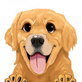 Golden Retriever Car Sticker Decal