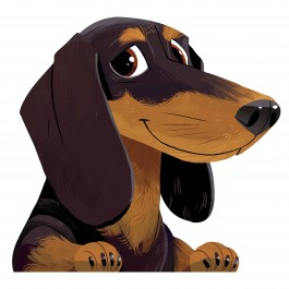 Dachshund Car Sticker Decal