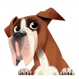 Boxer Dog Sticker Decal